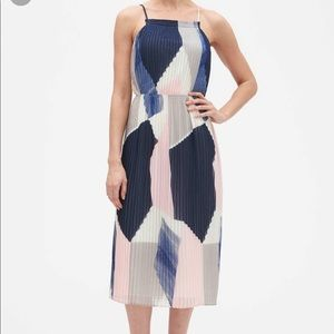 Banana republic sz4 color block pleated dress